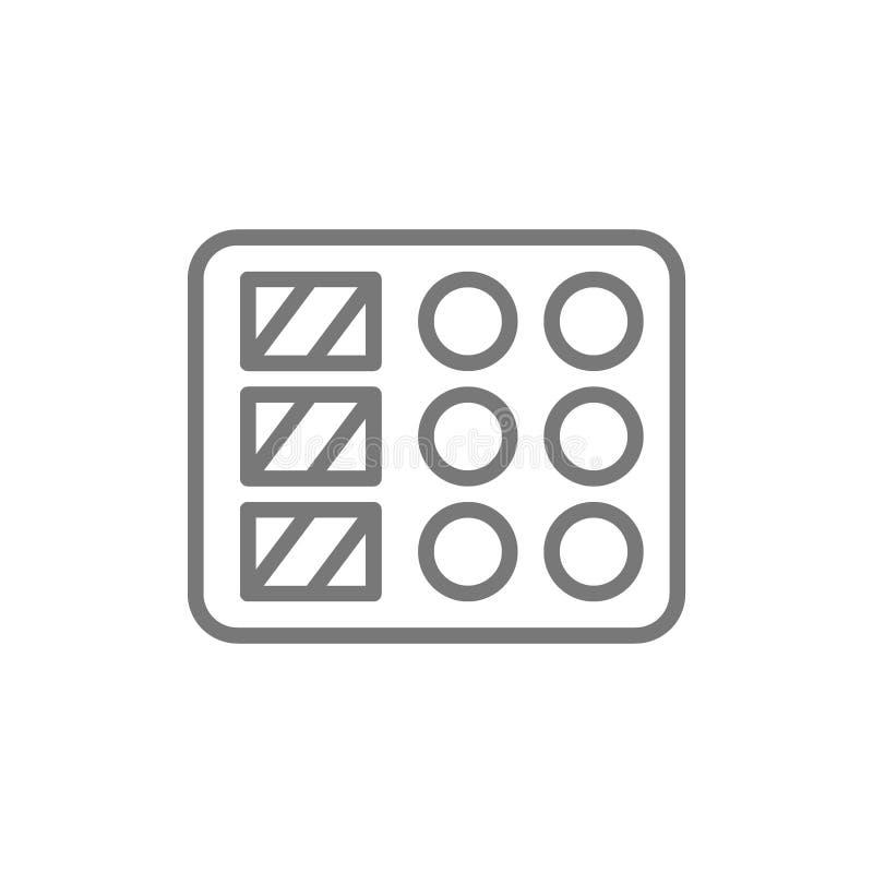 Línea icono del plato del sushi libre illustration