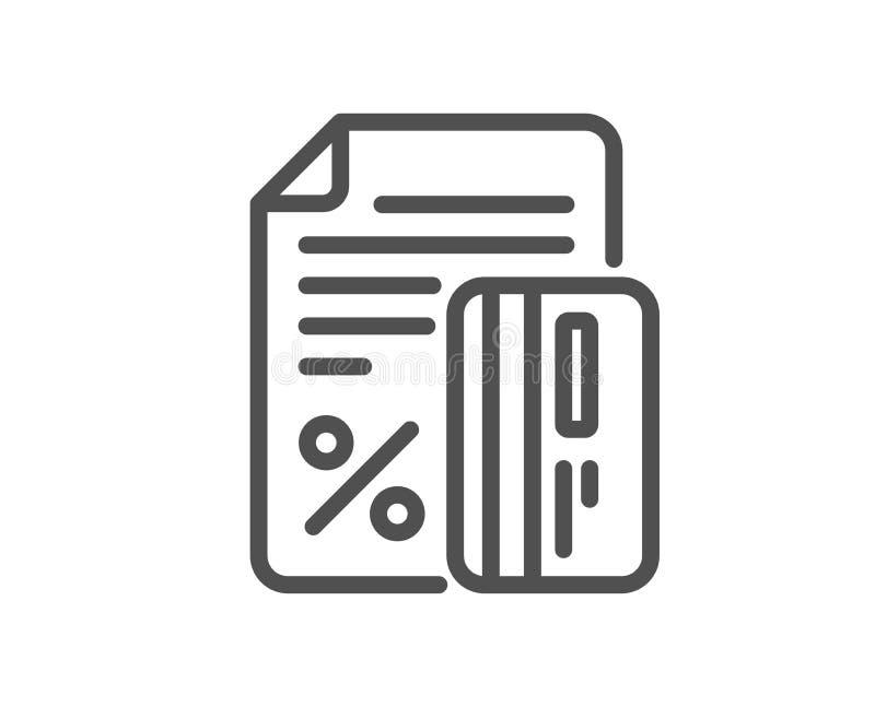 Línea icono del por ciento de la tarjeta de crédito Muestra del descuento Vector libre illustration