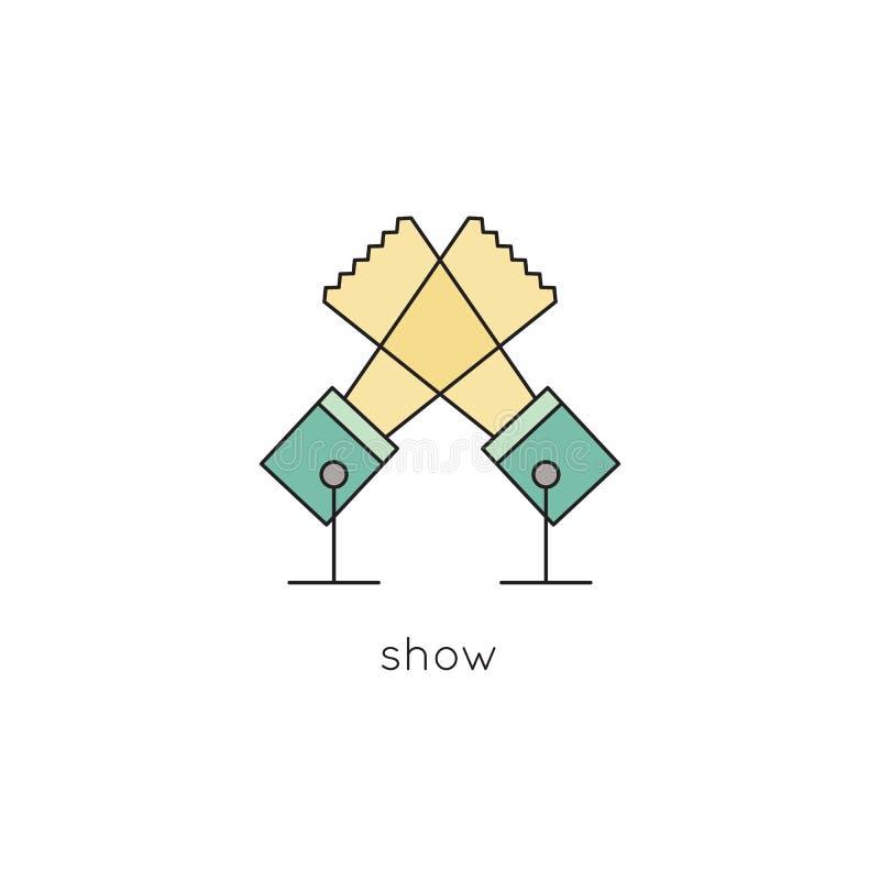 Línea icono del reflector stock de ilustración