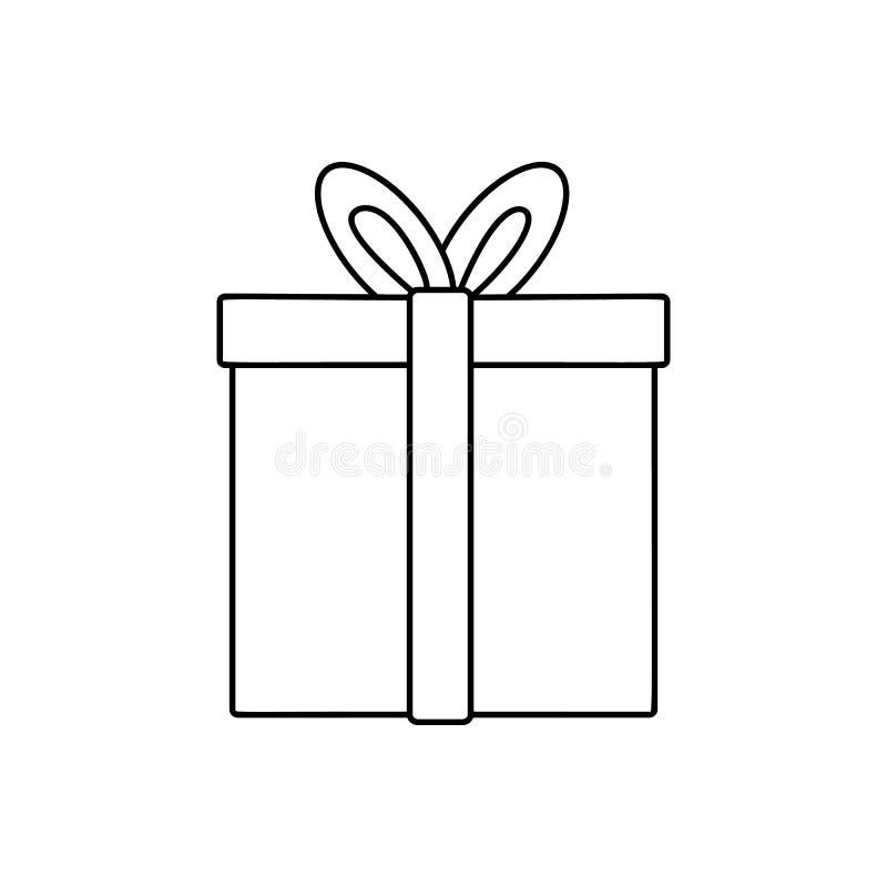 Línea icono del regalo libre illustration