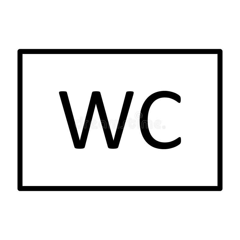Línea icono del retrete del WC Pictograma mínimo simple 96x96 del vector ilustración del vector