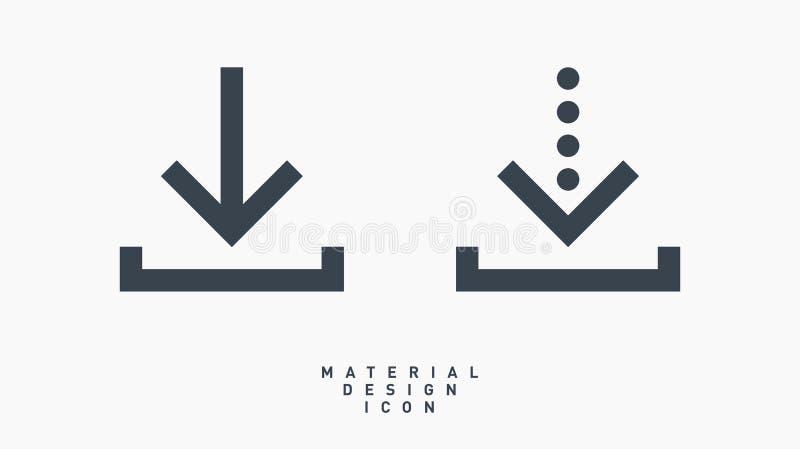 Línea icono del símbolo de la flecha de la transferencia directa del vector fotos de archivo