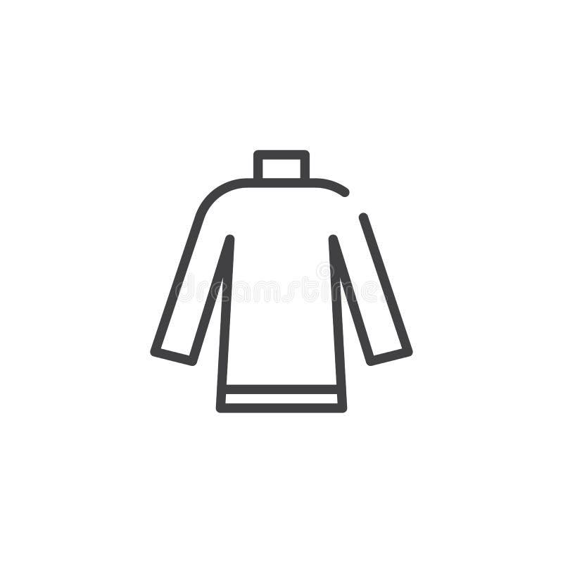 Línea icono del suéter libre illustration