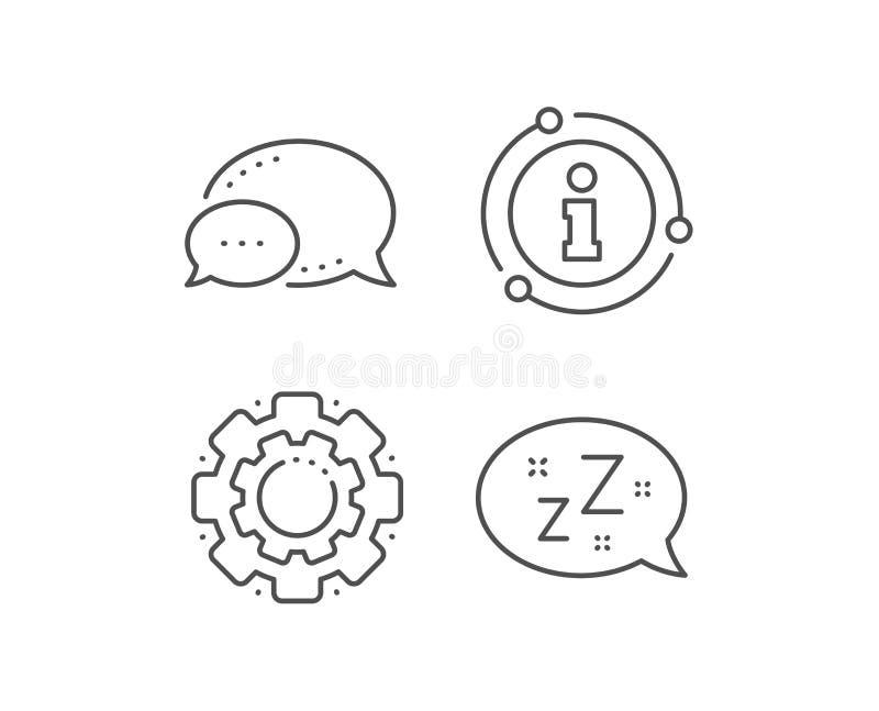 Línea icono del sueño Muestra de la burbuja del discurso de Zzz Mensaje de la charla Vector ilustración del vector