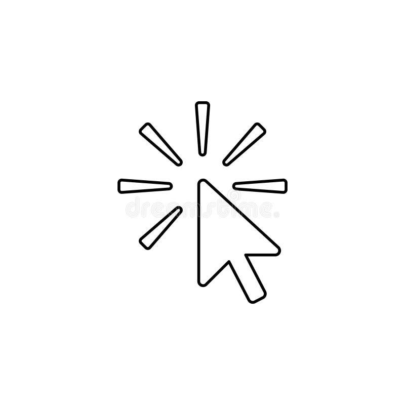 Línea icono del tecleo Vector ilustración del vector