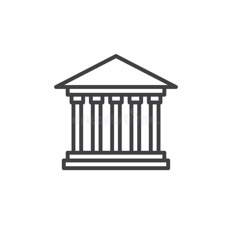 Línea icono del tribunal stock de ilustración
