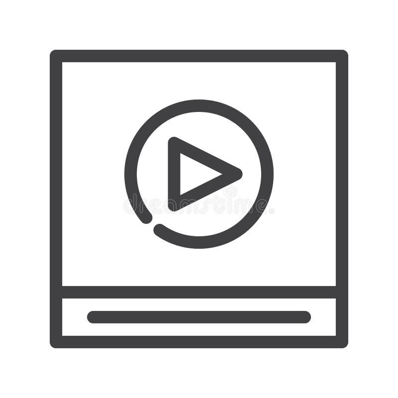 Línea icono del vídeo ilustración del vector