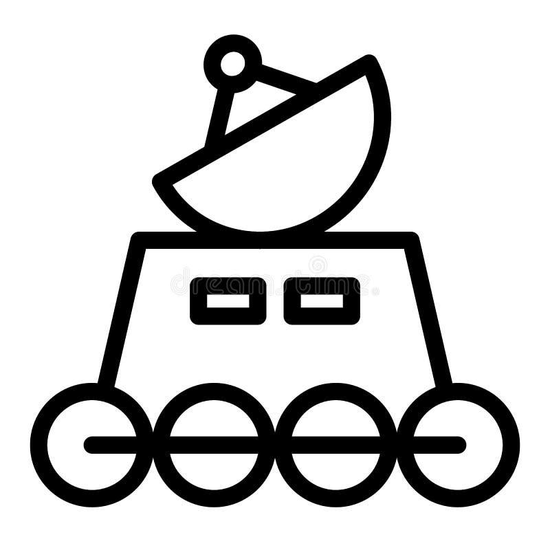 Línea icono del vagabundo de la luna Ejemplo lunar del vector del vagabundo aislado en blanco Diseño del estilo del esquema de la stock de ilustración