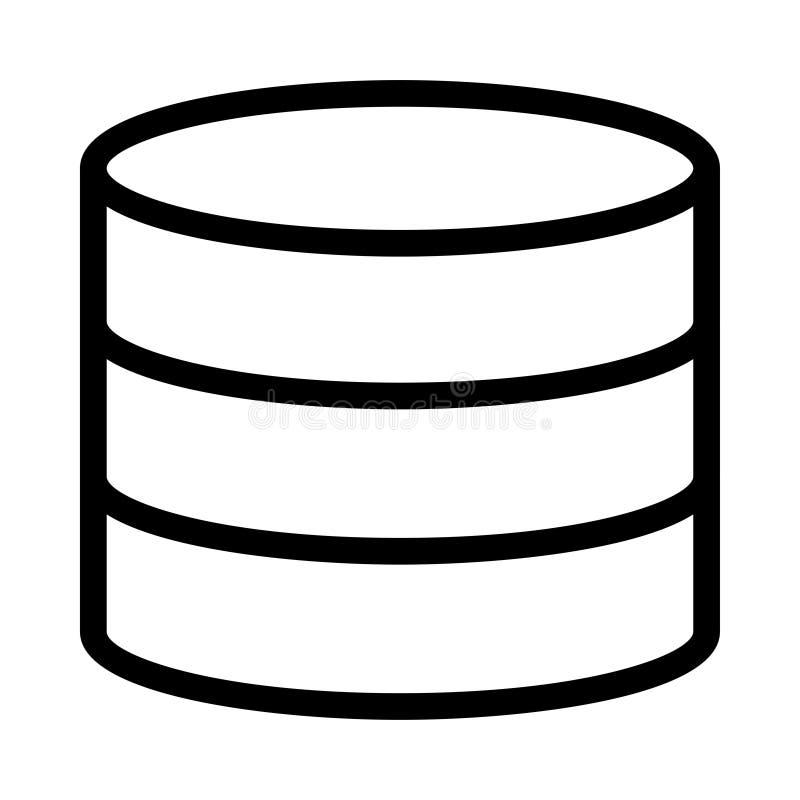 Línea icono del vector del almacenamiento libre illustration