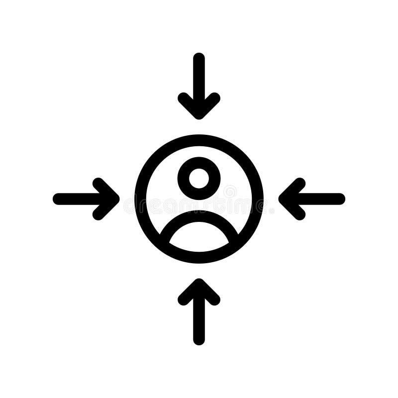 Línea icono del vector de la audiencia ilustración del vector