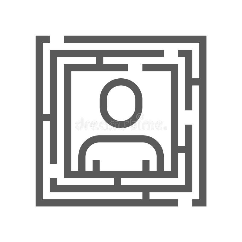 Línea icono del vector de la gestión de recursos humanos Estrategia de gestión Movimiento Editable pixel 48x48 perfecto stock de ilustración