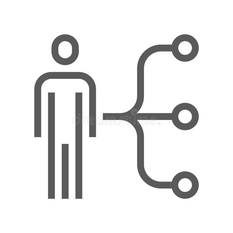 Línea icono del vector de la gestión de recursos humanos Habilidades del empleado Movimiento Editable pixel 48x48 perfecto stock de ilustración