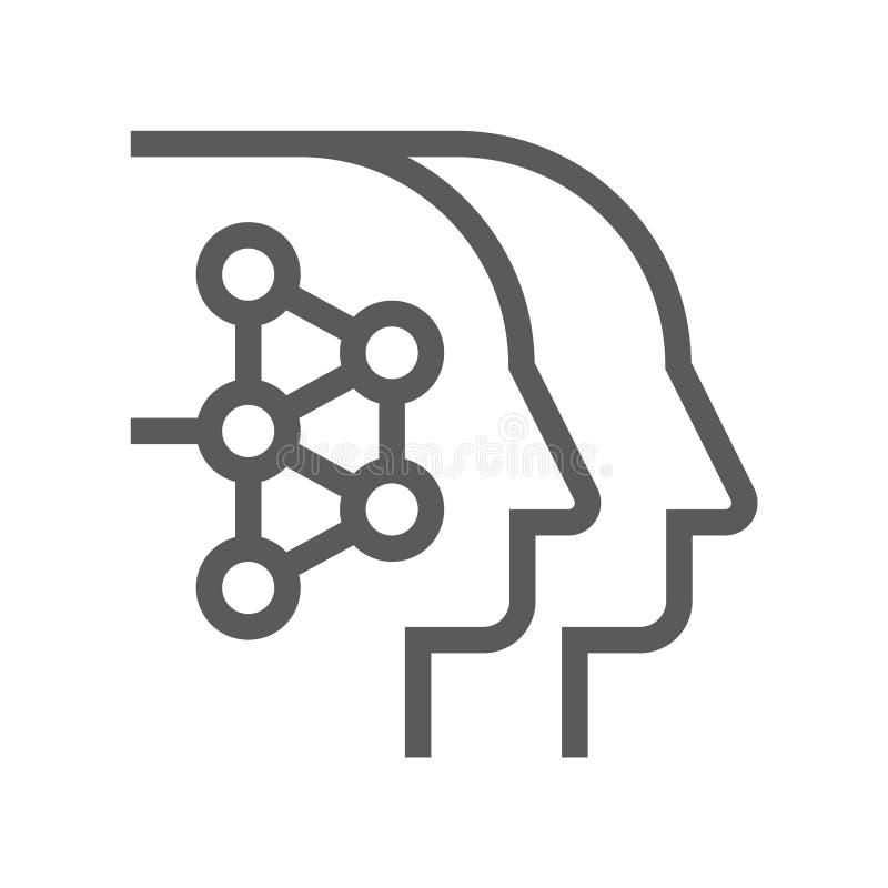 Línea icono del vector de la gestión de recursos humanos Habilidades técnicas Movimiento Editable pixel 48x48 perfecto libre illustration