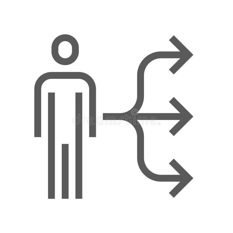 Línea icono del vector de la gestión de recursos humanos Movimiento Editable pixel 48x48 perfecto stock de ilustración