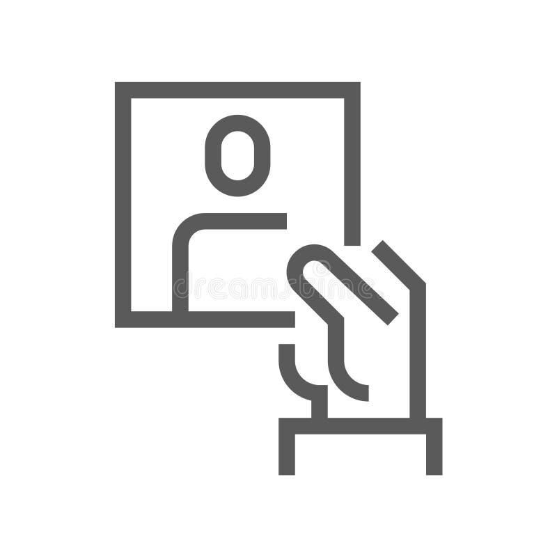 Línea icono del vector de la gestión de recursos humanos reclutamiento Movimiento Editable pixel 48x48 perfecto ilustración del vector