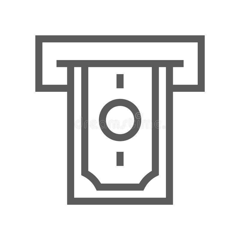 Línea icono del vector de las finanzas y de las actividades bancarias stock de ilustración