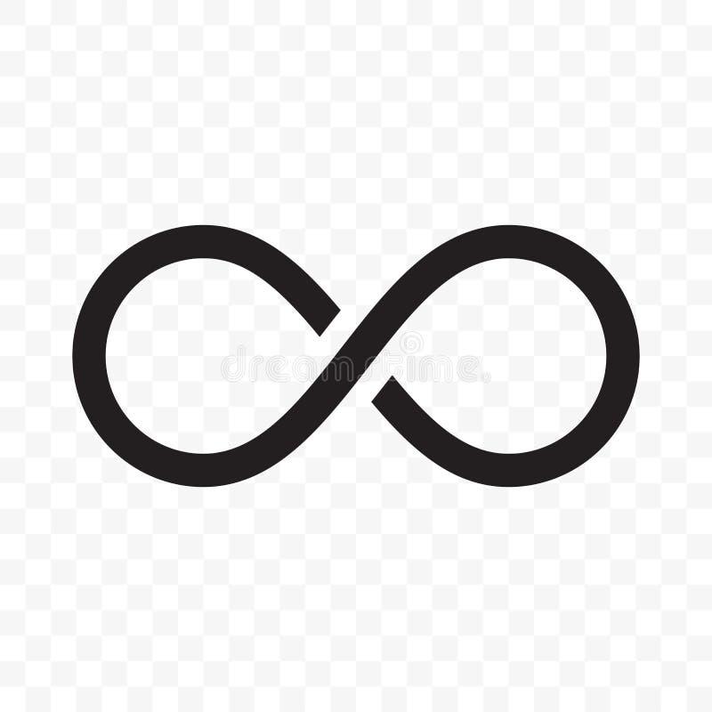 Línea icono del vector del infinito o del bucle infinito libre illustration