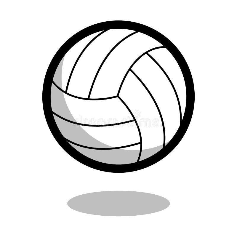 Línea icono del vector del logotipo de la bola del deporte del juego del voleibol del juego de 3d aislado ilustración del vector
