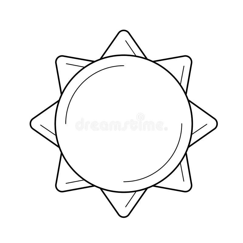 Línea icono del vector del poder de Sun stock de ilustración