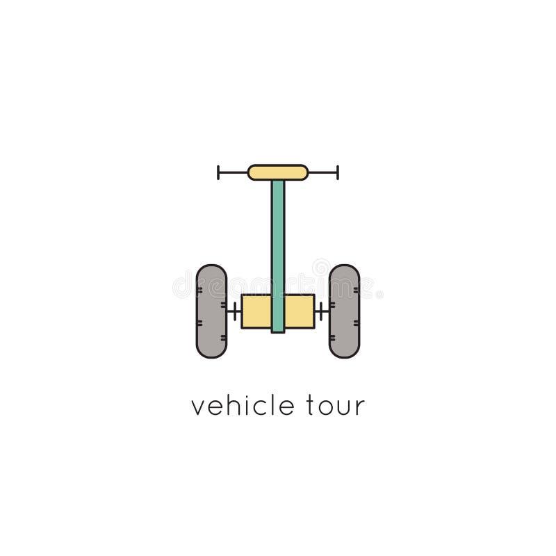 Línea icono del vehículo libre illustration