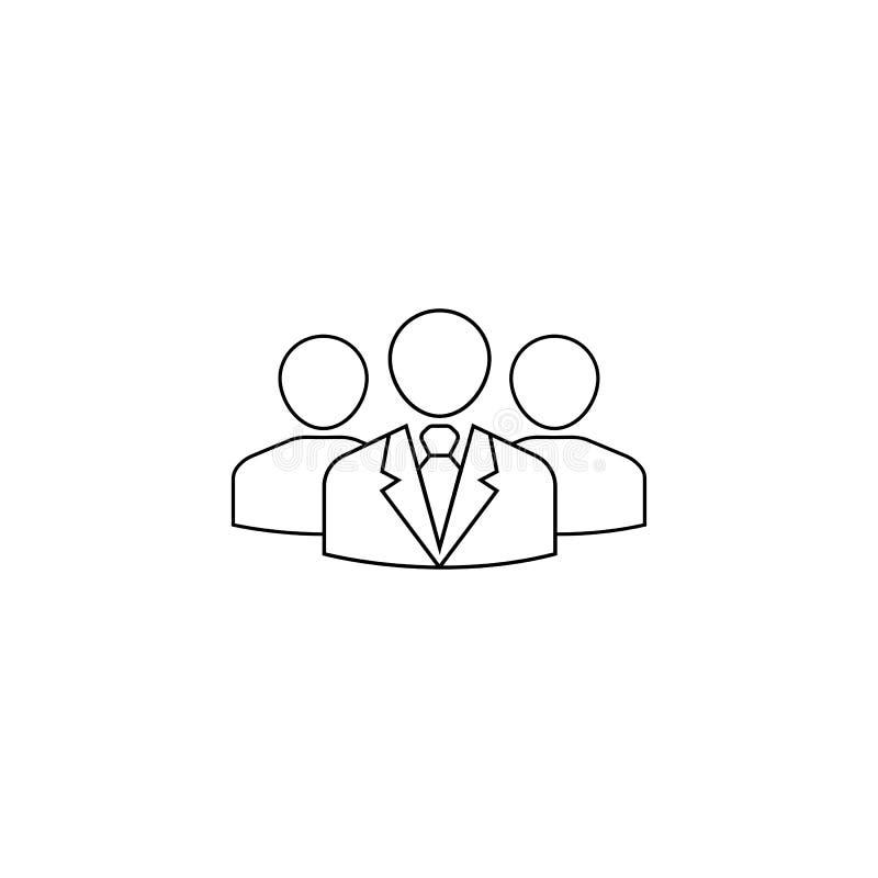 Línea icono, gente, negocio de Team Leader libre illustration