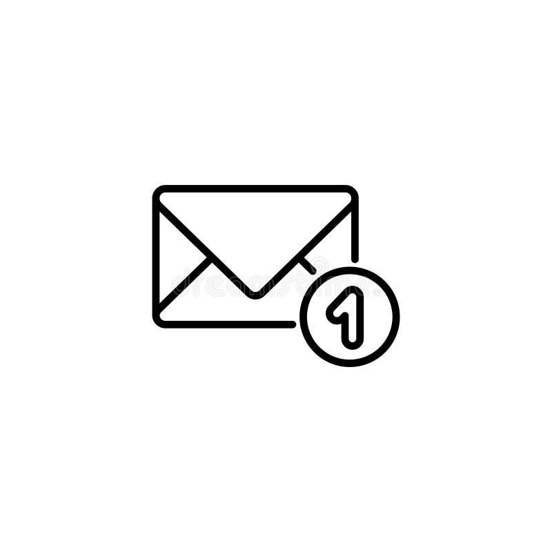 Línea icono Mensaje recibido stock de ilustración