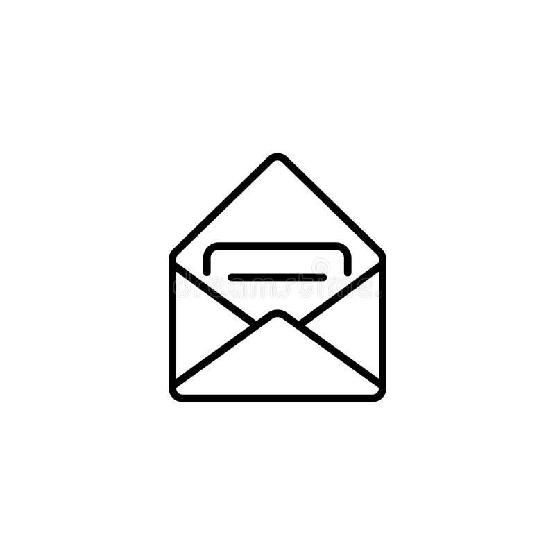 Línea icono Mensaje recibido ilustración del vector