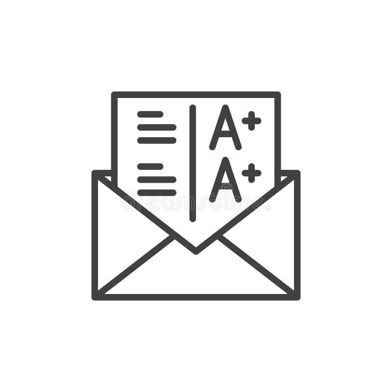 Línea icono, muestra de los grados del vector del esquema libre illustration