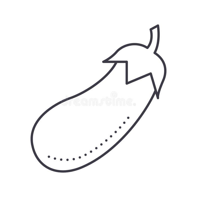 Línea icono, muestra, ejemplo del vector del cuenco de ensalada de Eco en el fondo, movimientos editable ilustración del vector