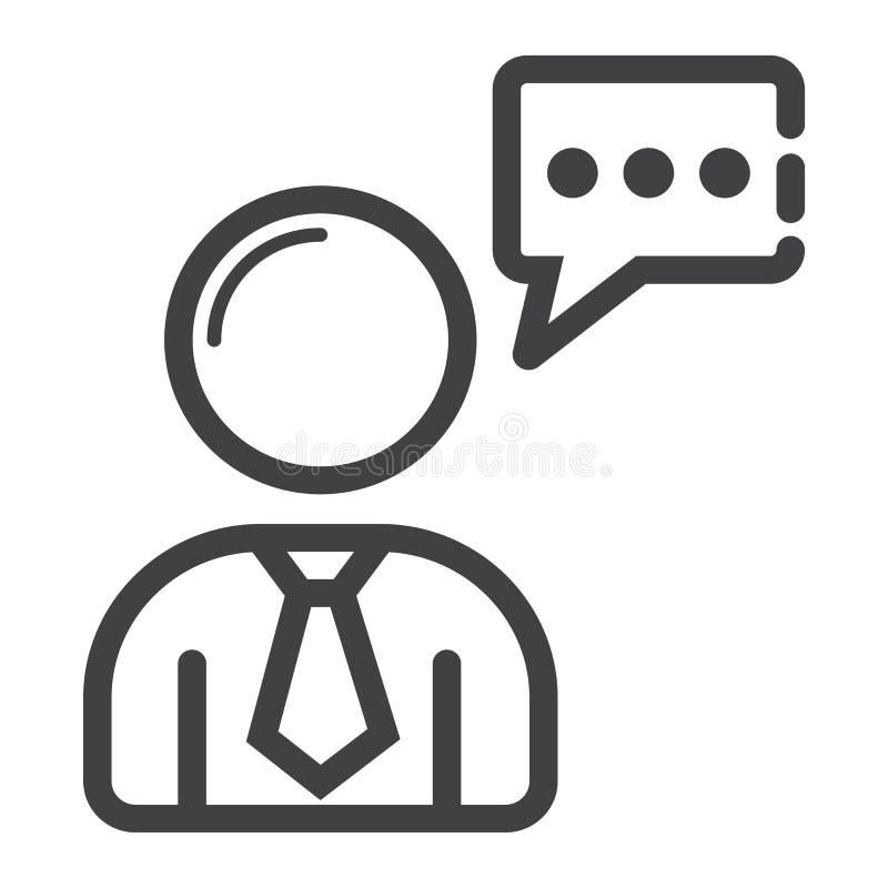 Línea icono, seo y desarrollo de Seo Consulting stock de ilustración