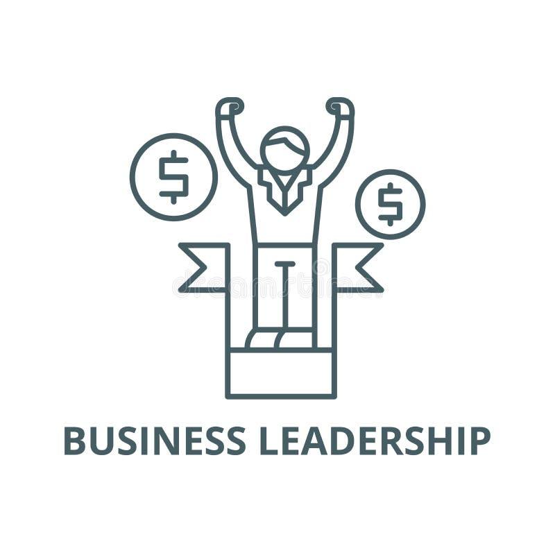 Línea icono, vector de la dirección del negocio Muestra del esquema de la dirección del negocio, símbolo del concepto, ejemplo pl ilustración del vector