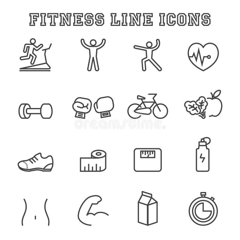 Línea iconos de la aptitud libre illustration