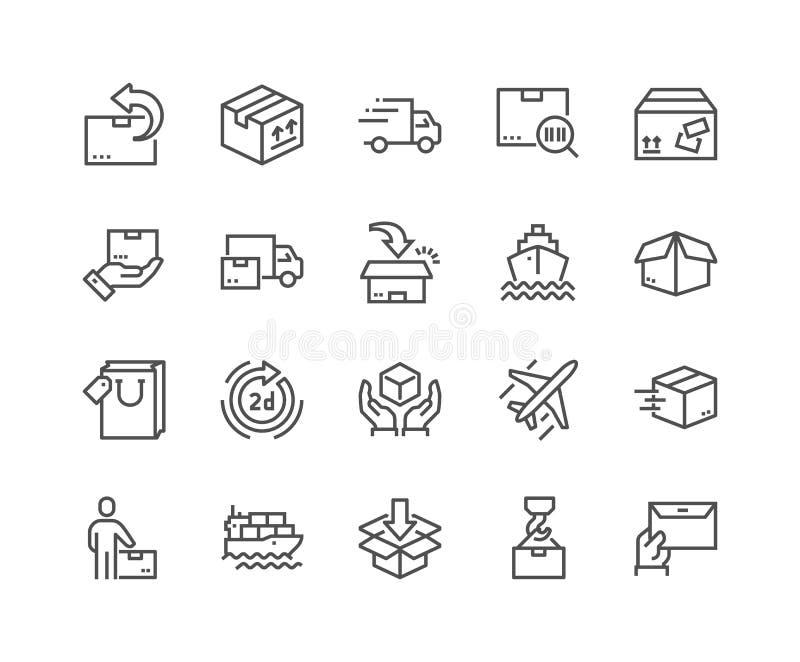 Línea iconos de la entrega ilustración del vector