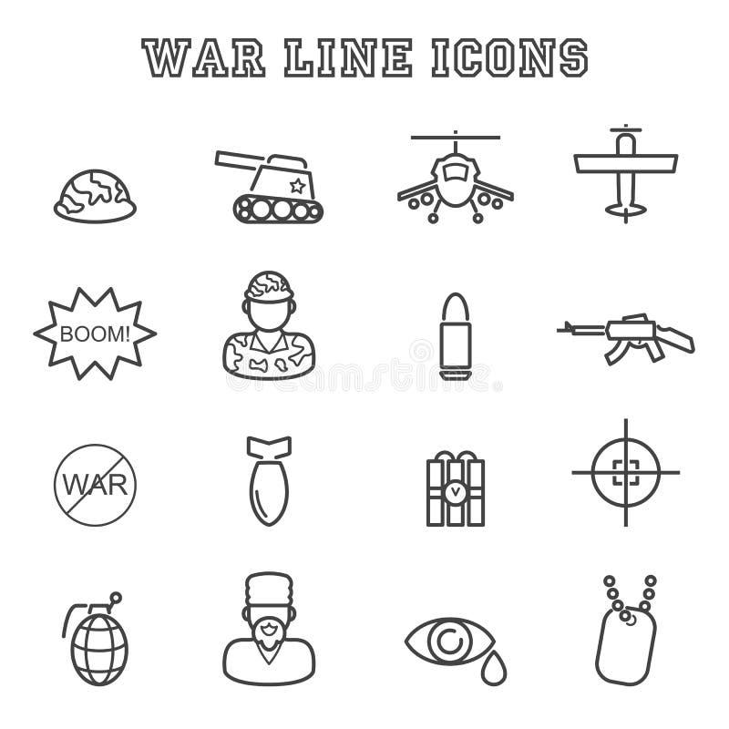 Línea iconos de la guerra libre illustration