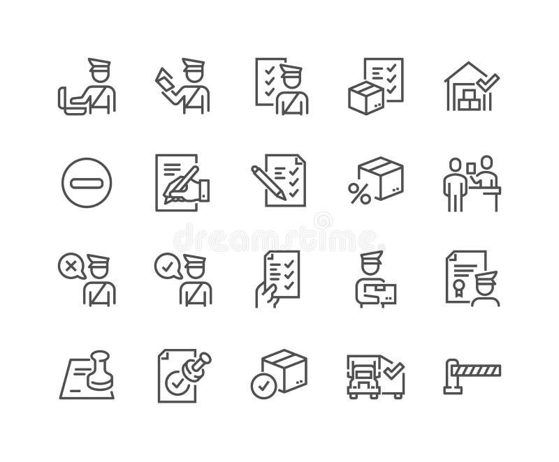 Línea iconos de las aduanas libre illustration
