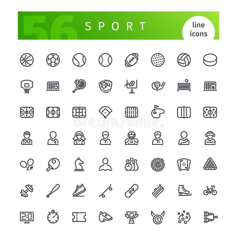 Línea iconos del deporte fijados libre illustration