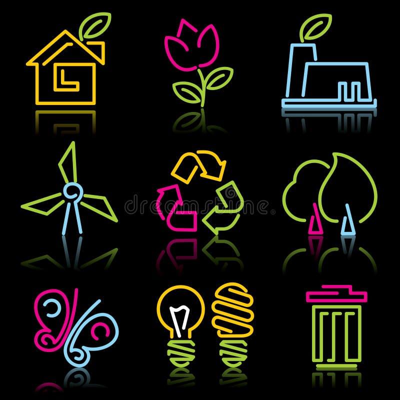 Línea iconos del eco stock de ilustración