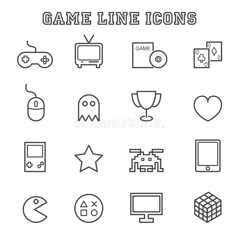 Línea iconos del juego libre illustration