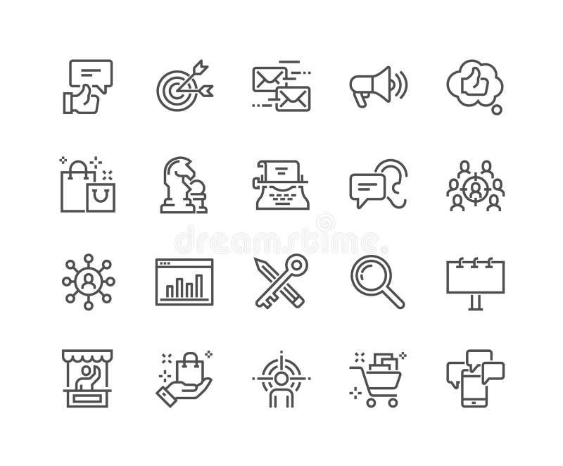 Línea iconos del márketing libre illustration
