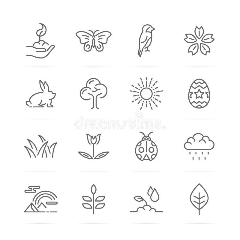 Línea iconos del vetor de la primavera libre illustration