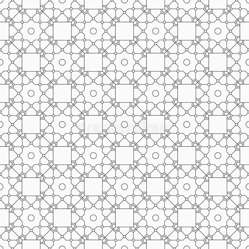 Línea inconsútil abstracta modelo libre illustration