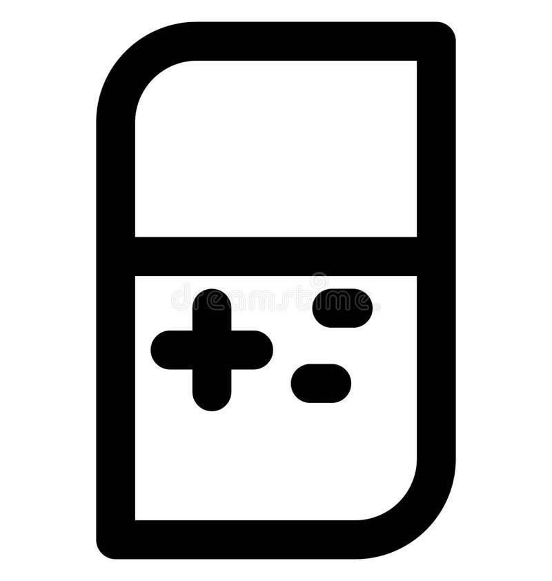 Línea intrépida icono de Gameboy que puede modificarse o corregir y colorear fácilmente también stock de ilustración