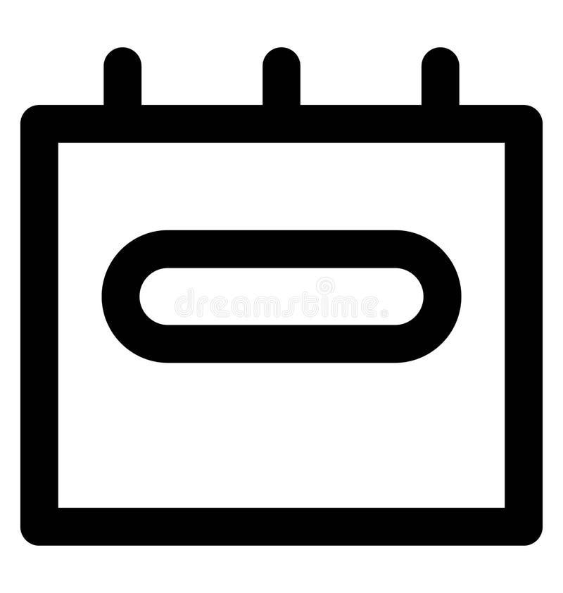 Línea intrépida icono de la batería de coche que puede modificarse o corregir y colorear fácilmente también ilustración del vector