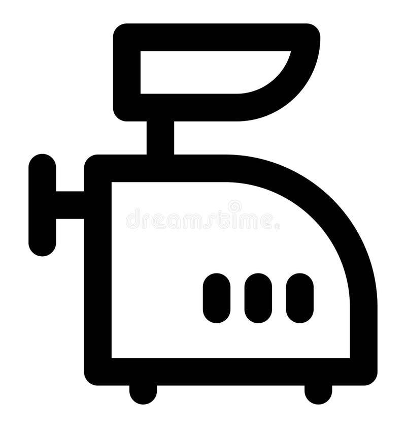 Línea intrépida icono de la máquina de la máquina de picar carne que puede modificarse o corregir y colorear fácilmente también stock de ilustración