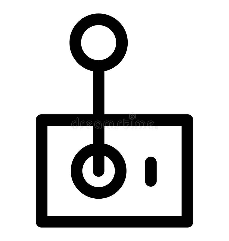 Línea intrépida icono de la palanca de mando que puede modificarse o corregir y colorear fácilmente también stock de ilustración
