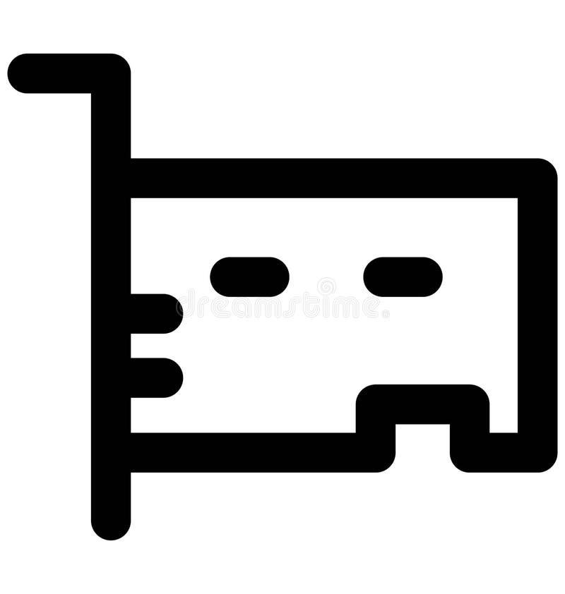 Línea intrépida icono de la tarjeta de sonido que puede modificarse o corregir y colorear fácilmente también ilustración del vector