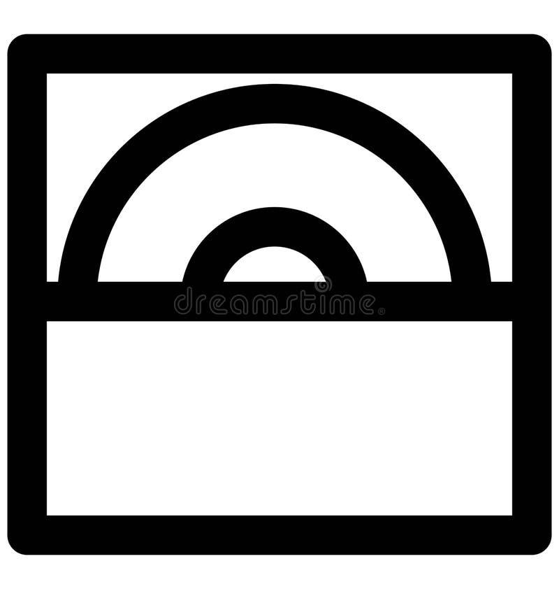 Línea intrépida icono del lector de cd que puede modificarse o corregir y colorear fácilmente también ilustración del vector