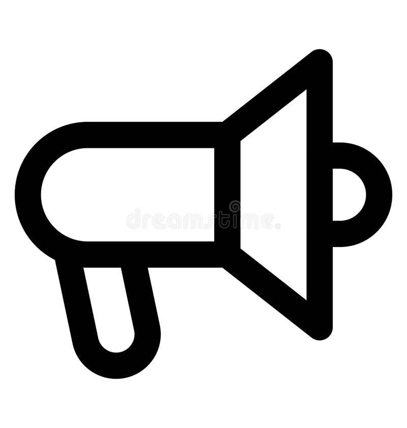 Línea intrépida icono del megáfono que puede modificarse o corregir y colorear fácilmente también libre illustration