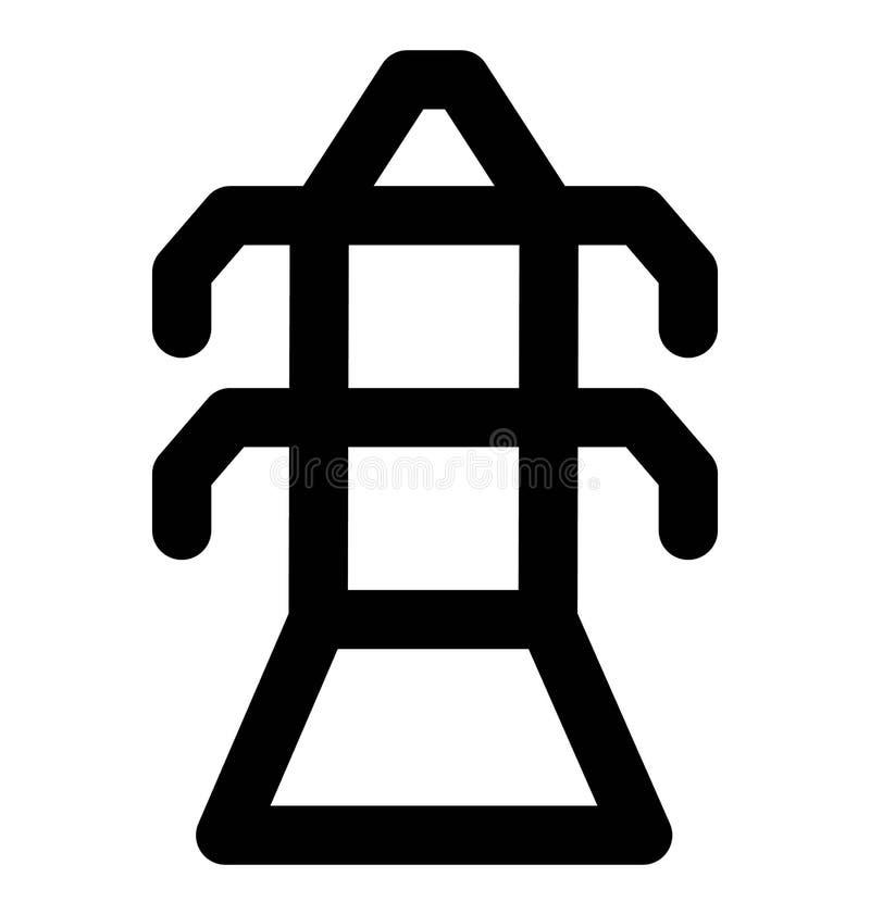 Línea intrépida icono del pilón eléctrico que puede modificarse o corregir y colorear fácilmente también libre illustration