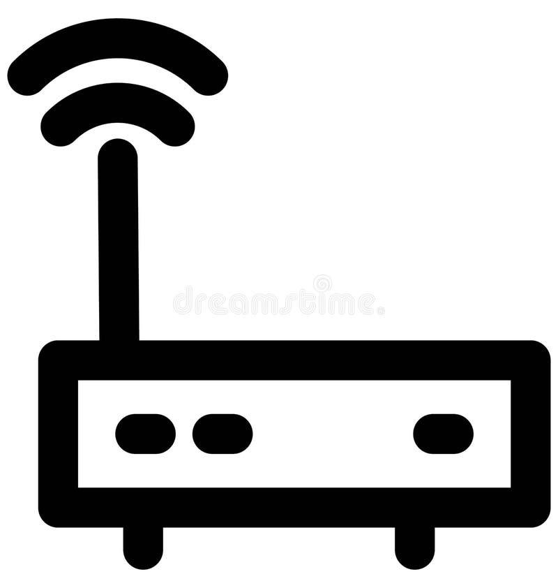 Línea intrépida icono del router de Wifi que puede modificarse o corregir y colorear fácilmente también libre illustration